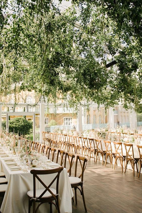 Romantic Garden wedding reception