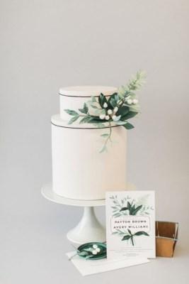 Simple Wedding Cakes for a Minimalist Wedding - minimalist wedding cake #weddingcake ,wedding cakes