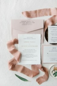 neutral wedding stationery