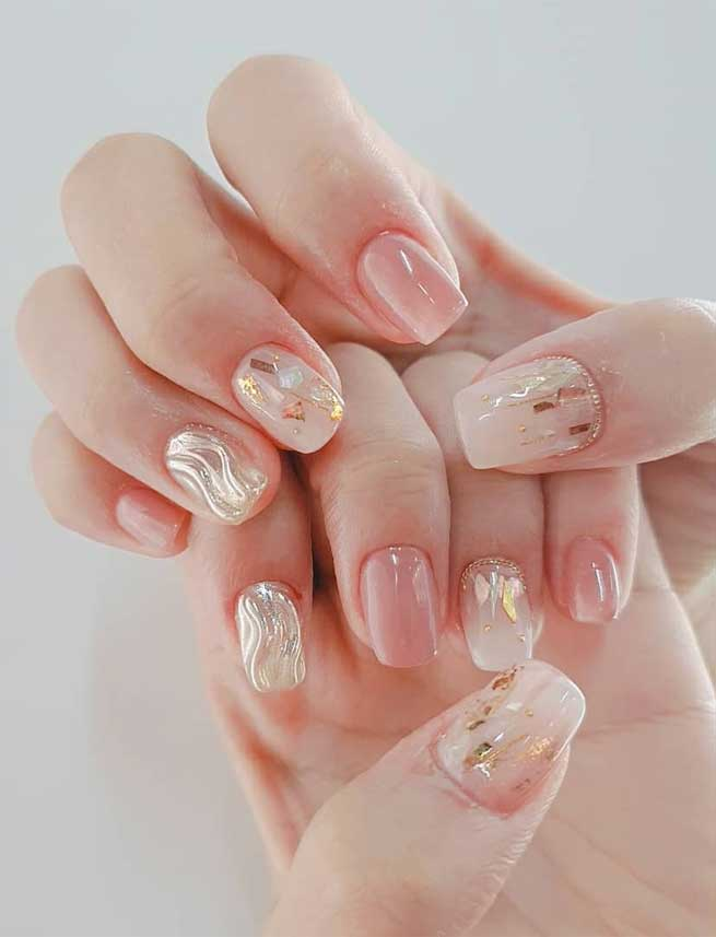 100 Beautiful Wedding Nail Art Ideas For Your Big Day 1 Fab Mood