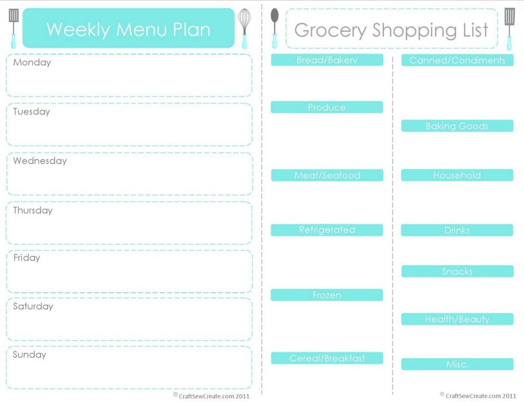 20 Free Menu Planner Printables