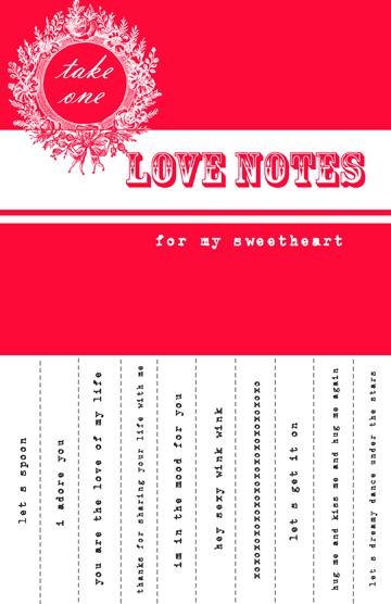 Free Printable Valentine Sweetheart Notes Fab N Free