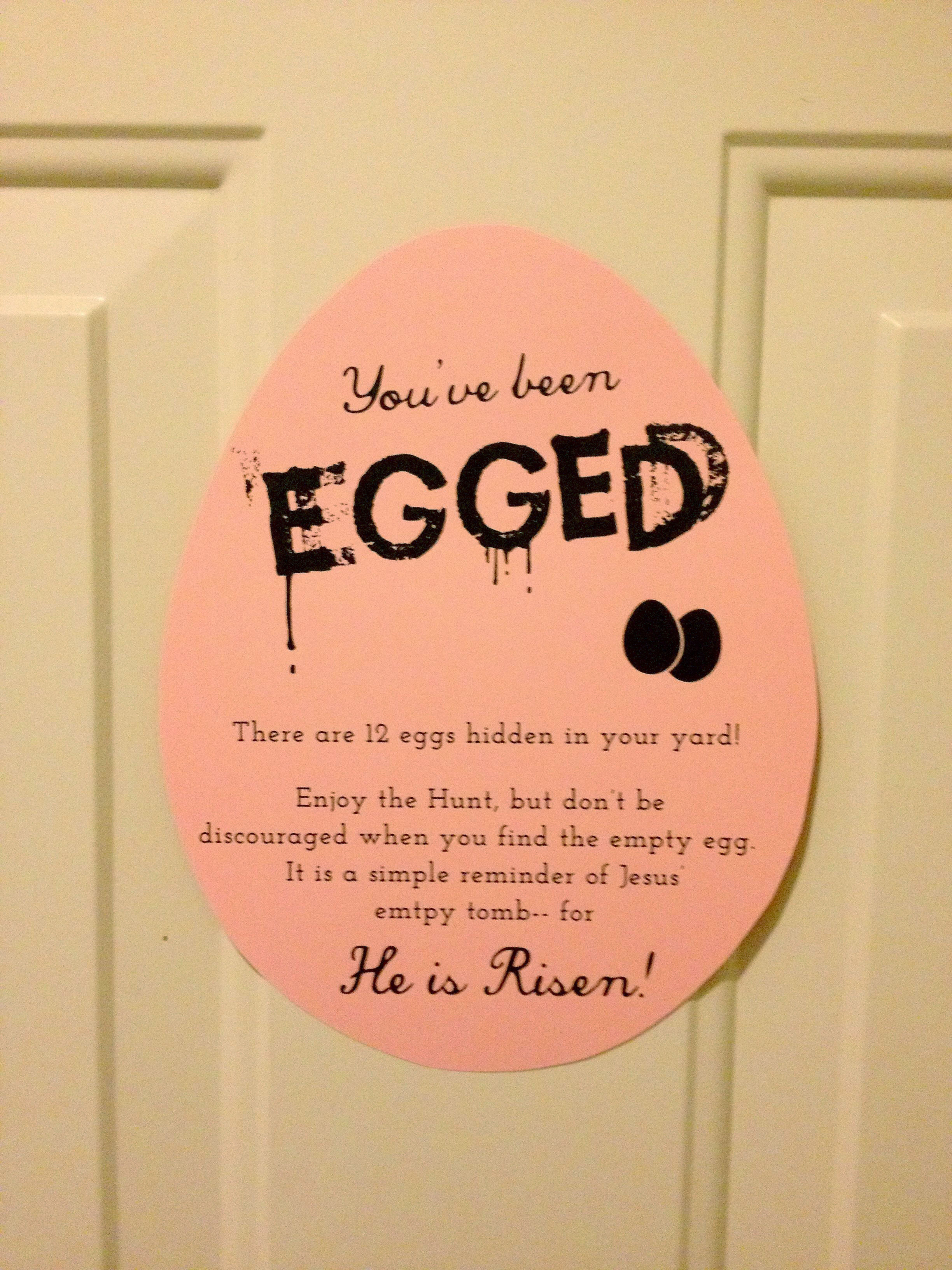 You Ve Been Egged A Free Printable