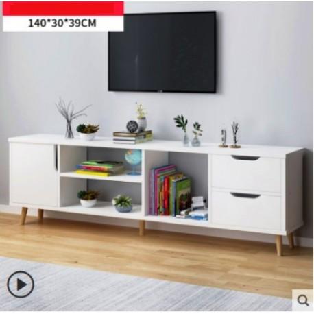m07 20 meuble tv scandinave 1 porte 2 tiroirs blanc 140cm www fabric mada com