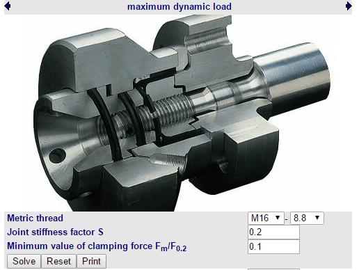 Calculo carga dinamica maxima eixos ranhurados
