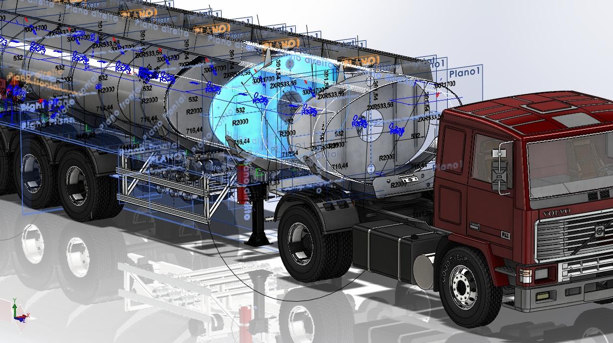 projeto mecanico semireboque tanque semielptico 32000l Truck 11