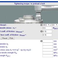 Calculo torque parafusos FP