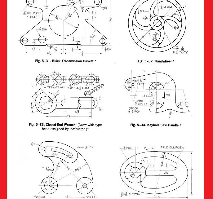 exercicios desenho tecnico AutoCAD CAD 1