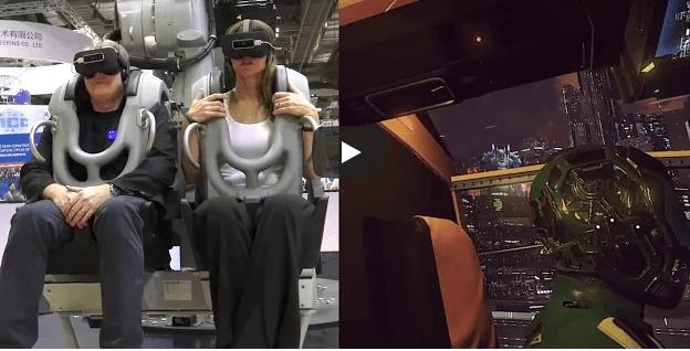 robo realidade virtual