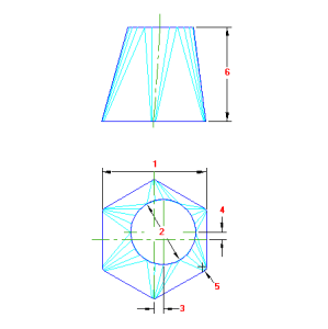 75 Planificacao Redondo para Hexagonal traçado caldeiraria
