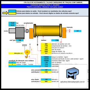 AFP.03.10110 dimensionamento calculo planilha tracao tambor talha ponte rolante
