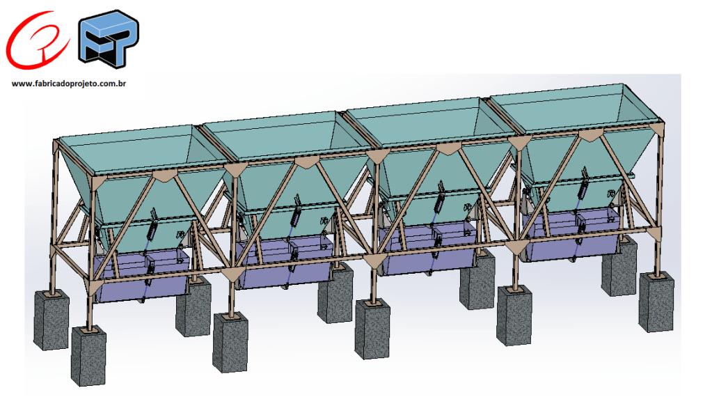 projeto mecanico completo silo moega dosadora agregados de concreto fabricadoprojeto