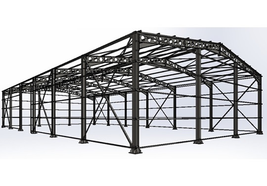 projeto de galpao metalico fabricadoprojeto