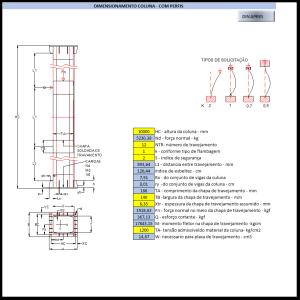 Fabrica do Projeto Planilha para calculo dimensionamento de colunas metalivas perfis