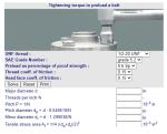 Cálculos Online: Cálculos para Parafusos UNF Torque de Aperto
