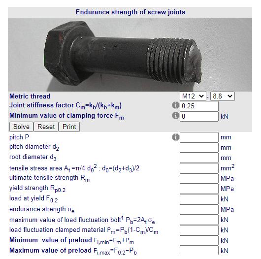 Calculo forca de resistencia de unioes por Parafusos Fabricadoprojeto