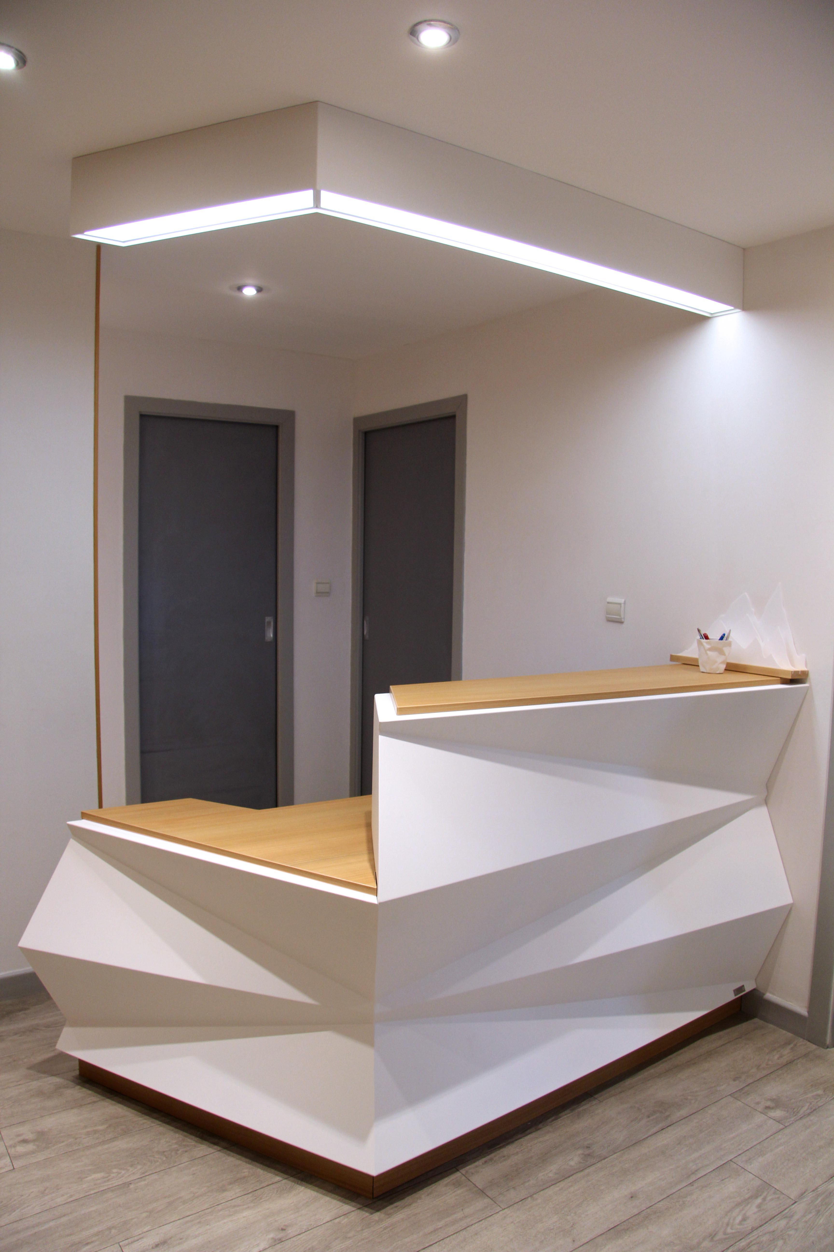 Banque D Accueil Origami En M 233 Tal Fabricant Meuble Metal