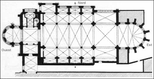 Plan de l'église Sainte-Croix