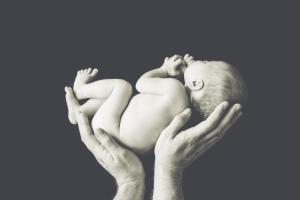 Bébé dans les mains