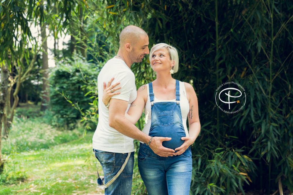 éance grossesse couple extérieur