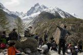 Les étudiants de L3 dans la vallée de Chamonix