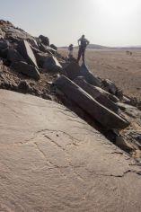 Pétroglyphes aux alentours de Icht, non loin de la frontière algérienne