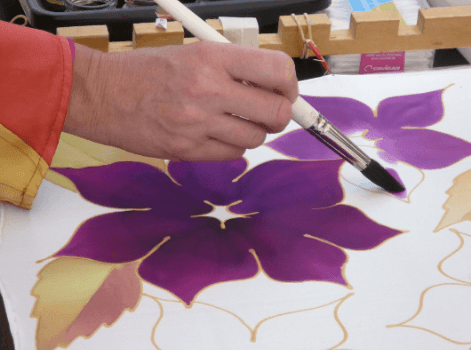 Fabric painting techniques