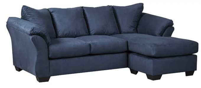Ashley furniture signature design microfiber sofa chaise