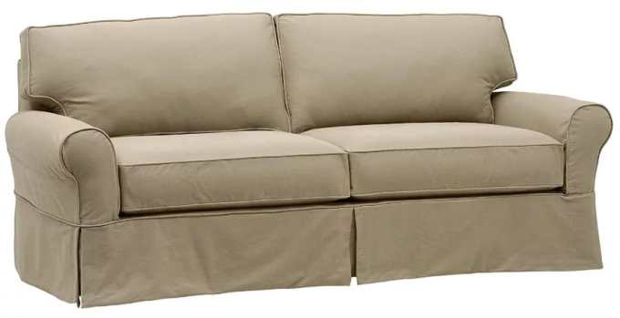 Stone & beam carrigan modern slipcover sofa