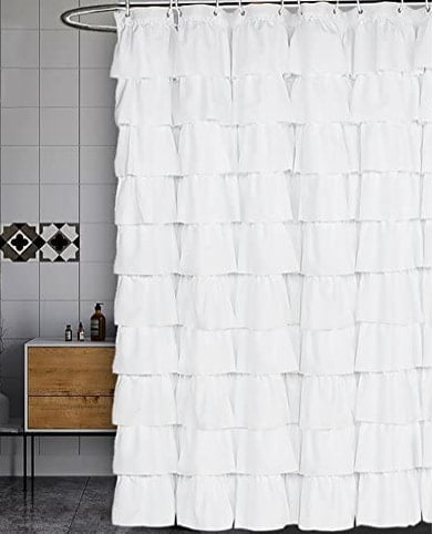 shower curtains for small bathrooms