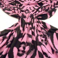 Walking Moon Black/Pink T-Shirting Patterned