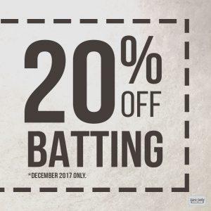 20% Off Batting & Stuffing