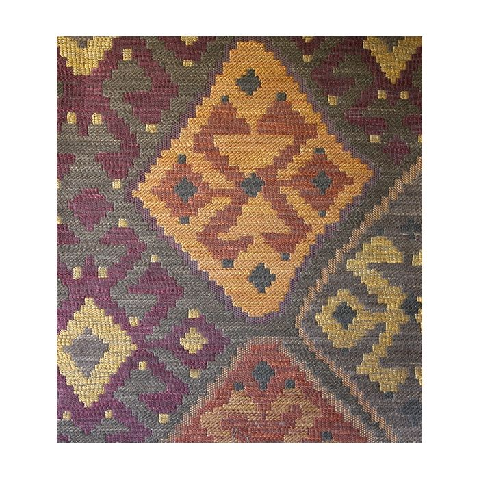Kilim Tapestry Upholstery Fabric Brown Gold Tapestry