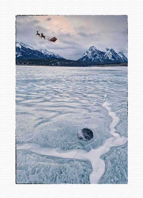 christmas card, greeting card,santa and reindeer christmas card,