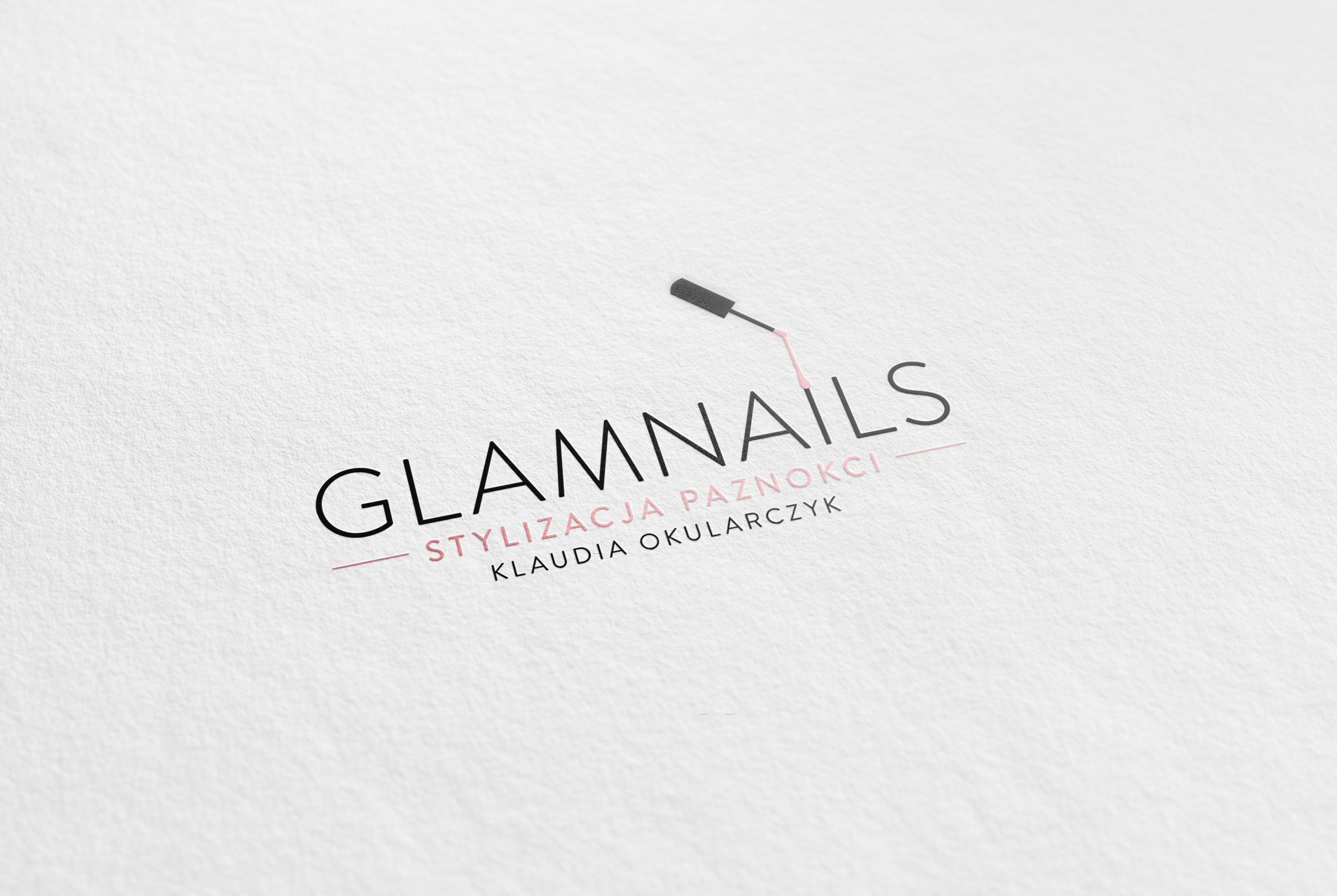 Projekt Logo Stylizacja Paznokci Glamnails Fabryka Kreacji