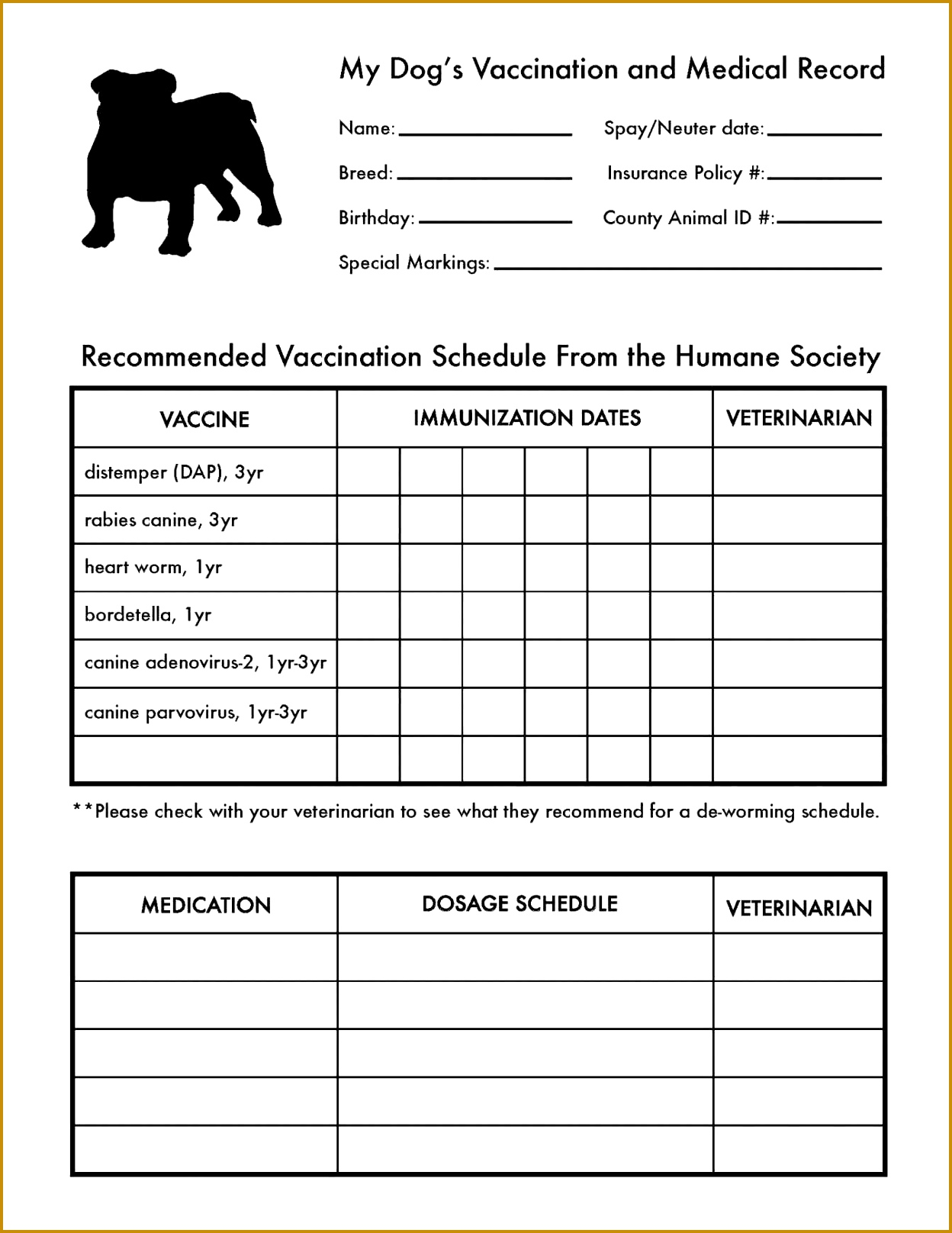 6 Anesthesia Record Form Template
