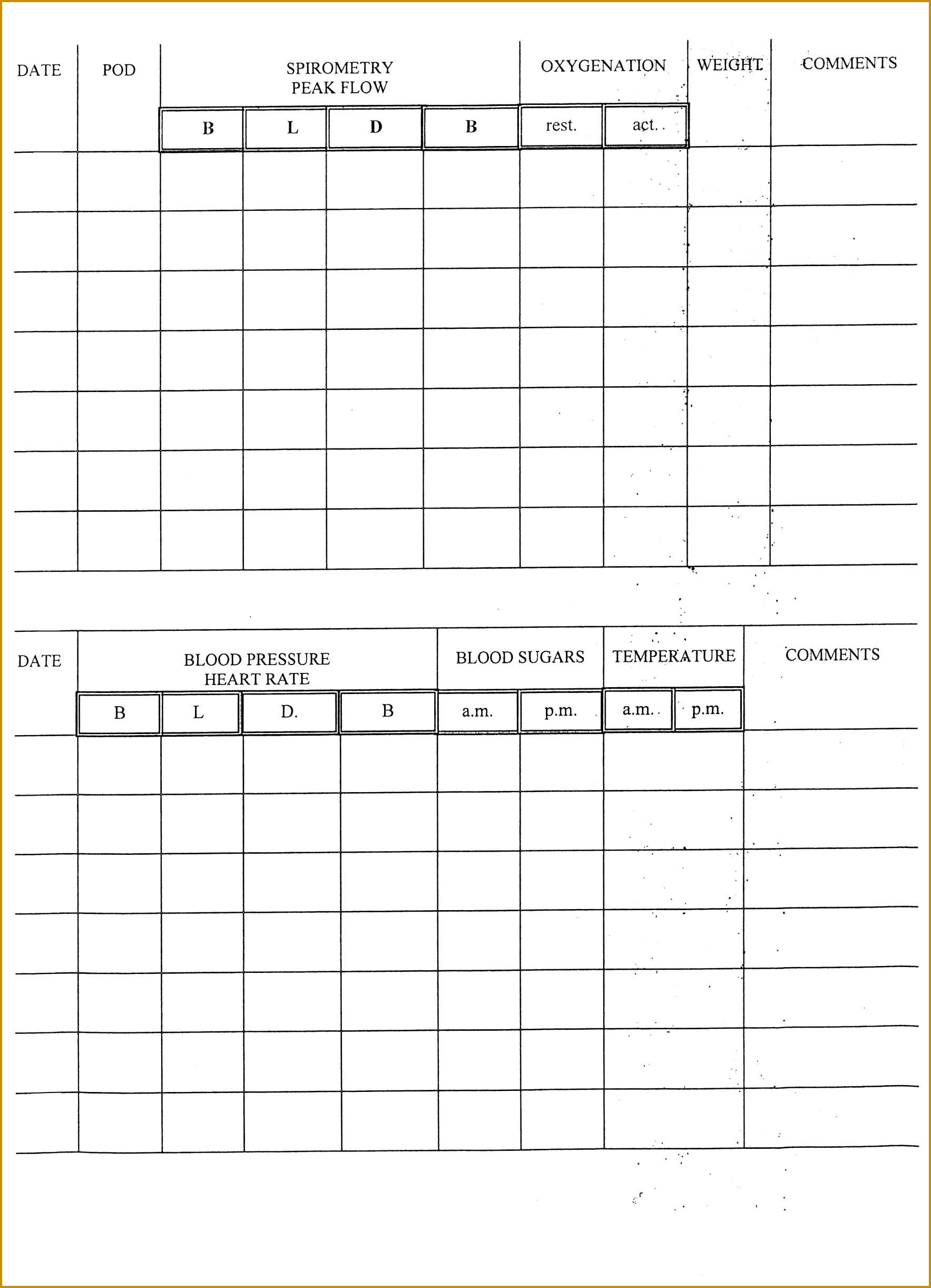 5 Community Service Log Sheet Template