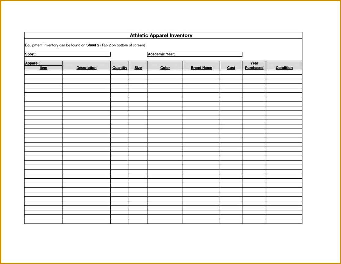 6 Jewelry Inventory Spreadsheet