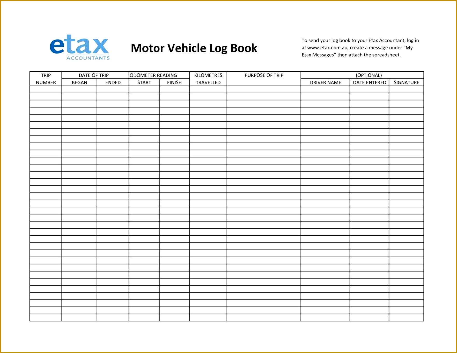 5 Truck Drivers Trip Sheet Template
