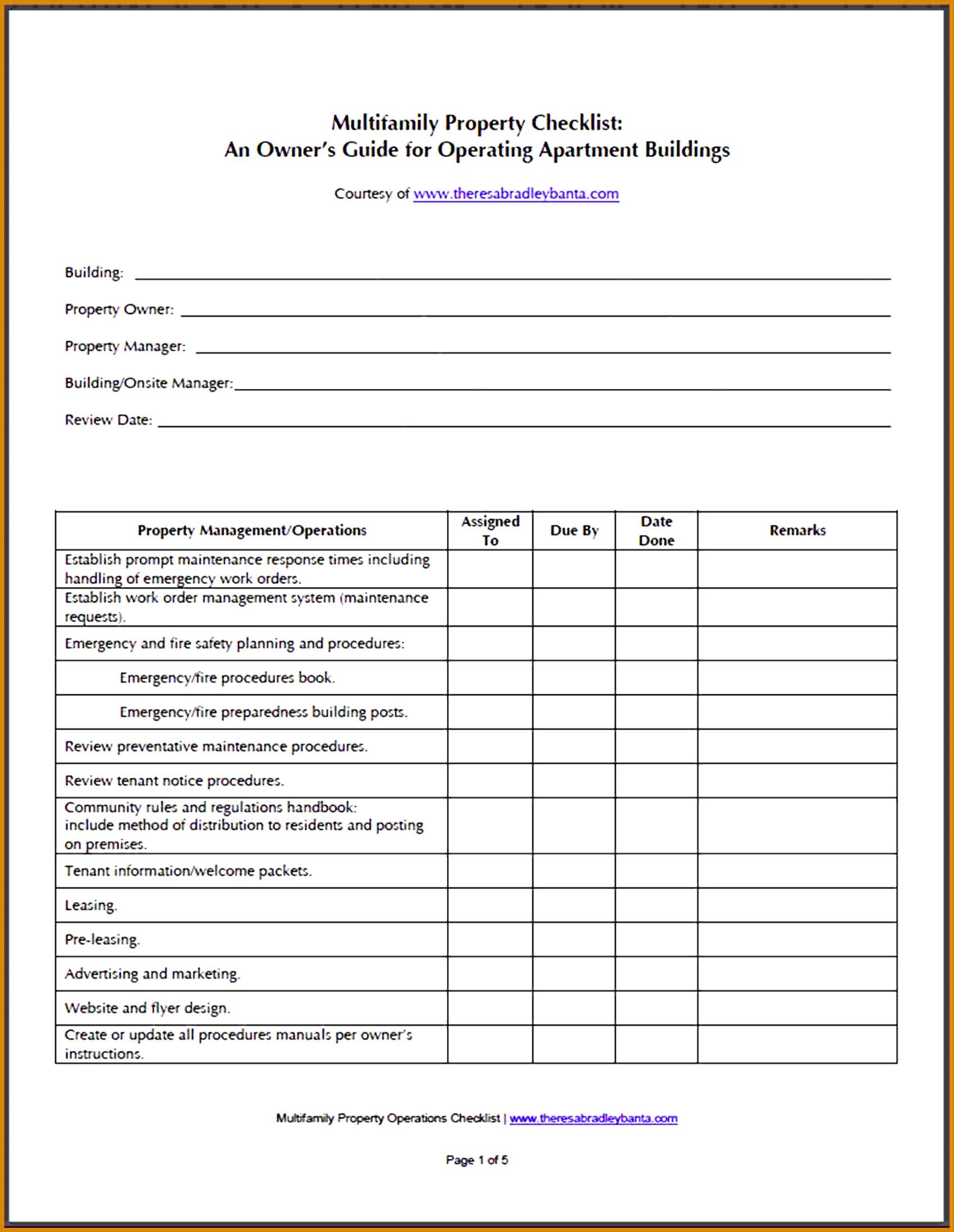 7 Facility Maintenance Checklist Template