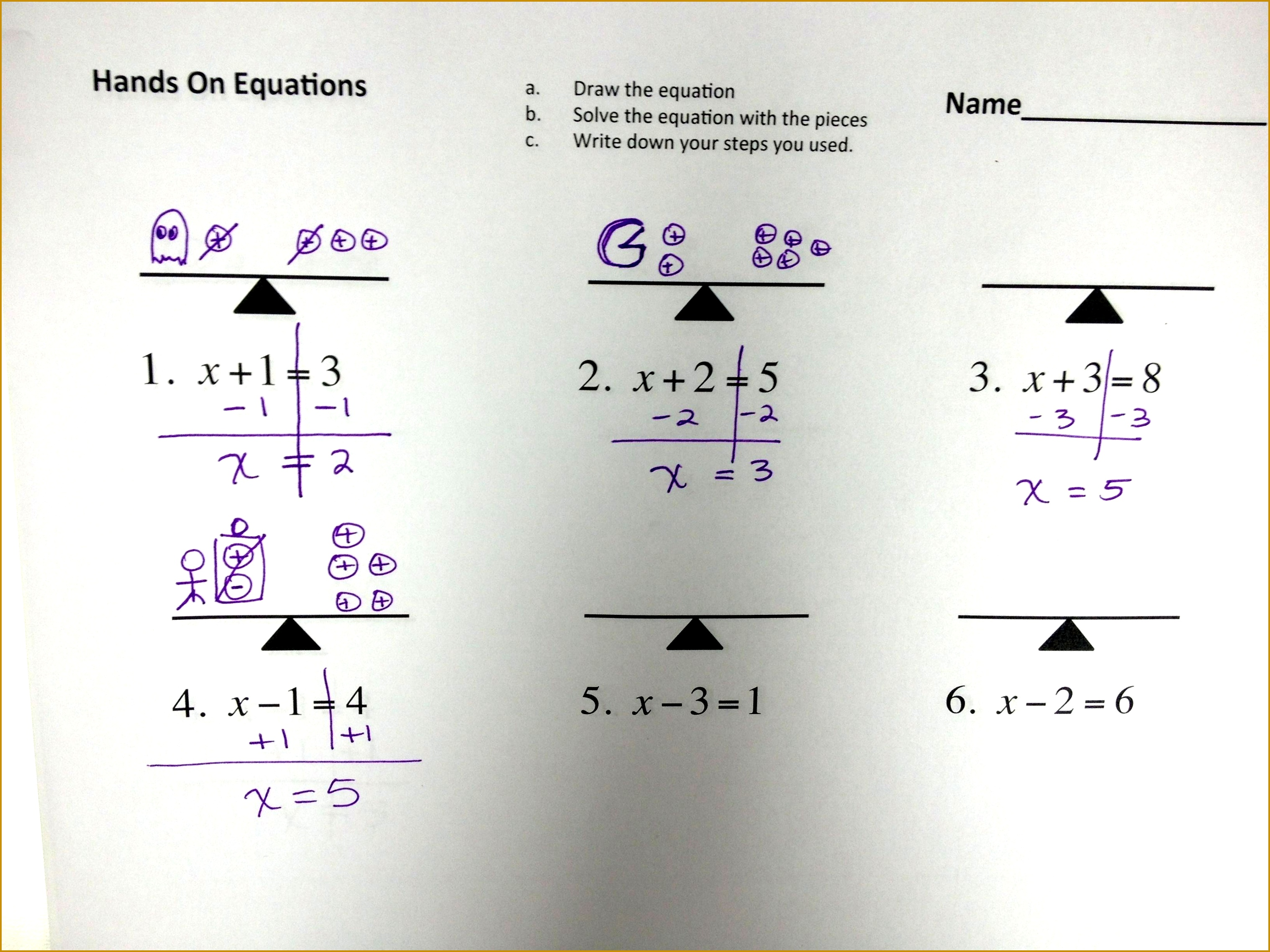 4 2 Step Equations Worksheet