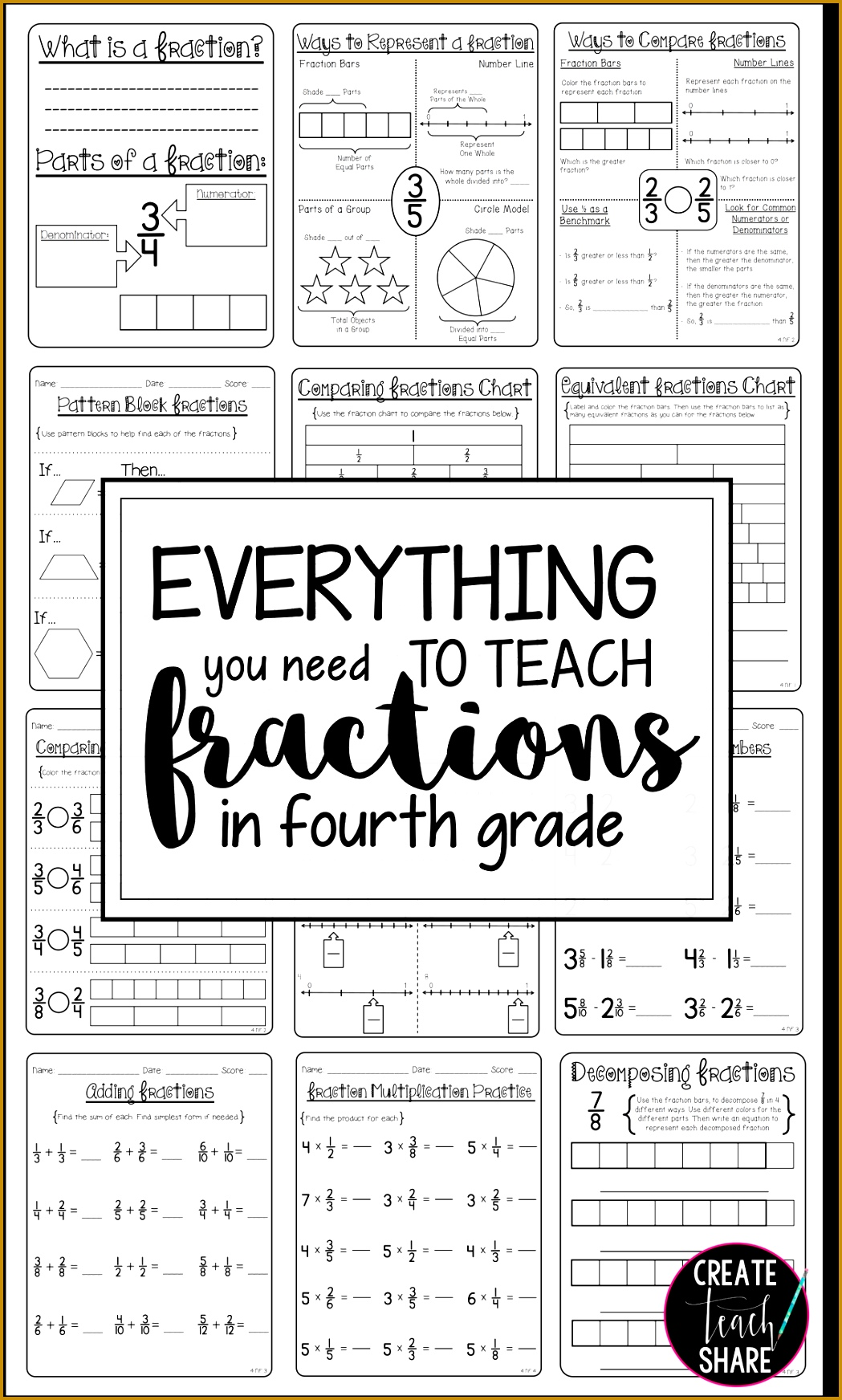 4 Adding And Subtracting Fractions Worksheets