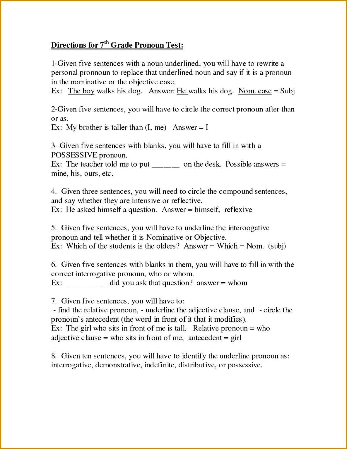6 Adjective Worksheets