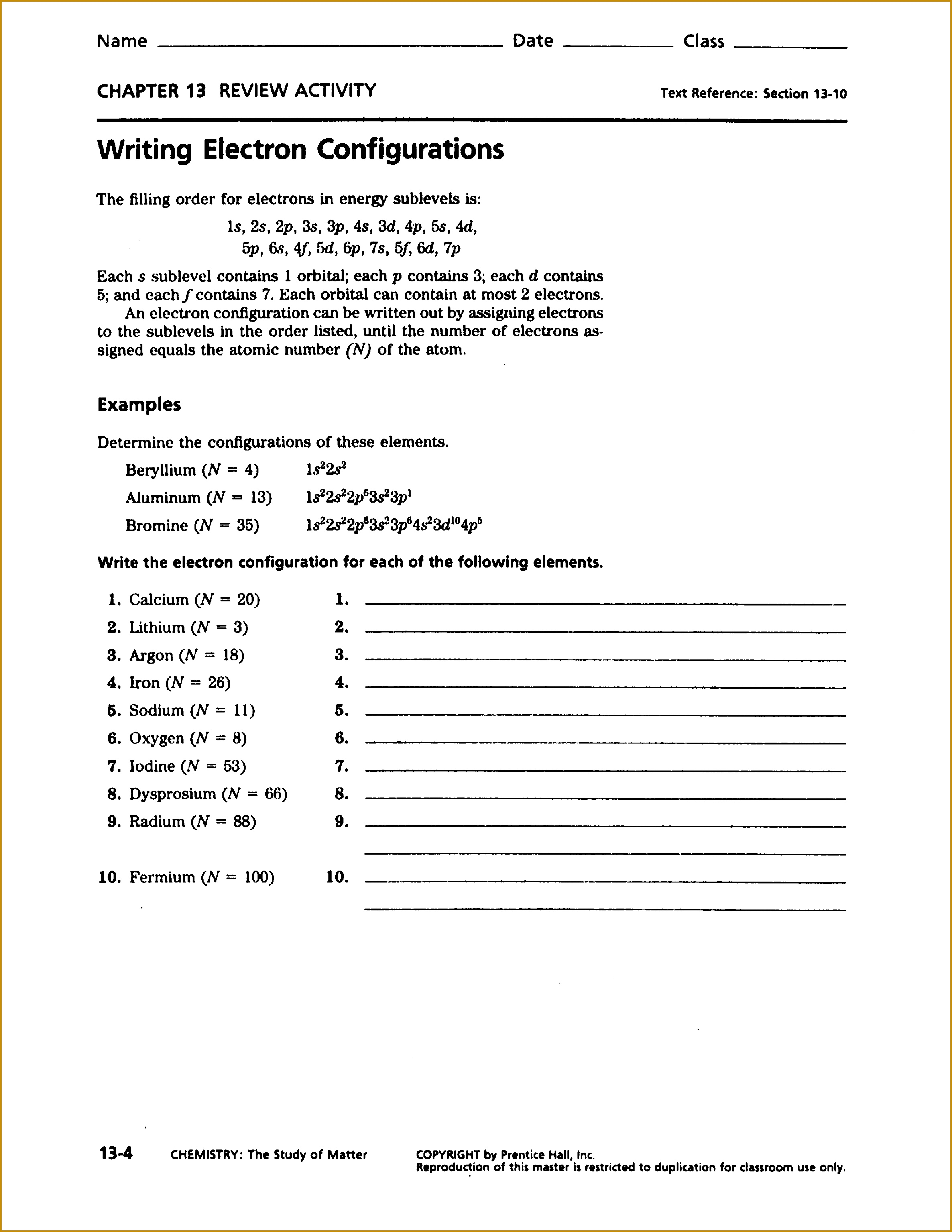 6 Atomic Structure Review Worksheet Answer Key