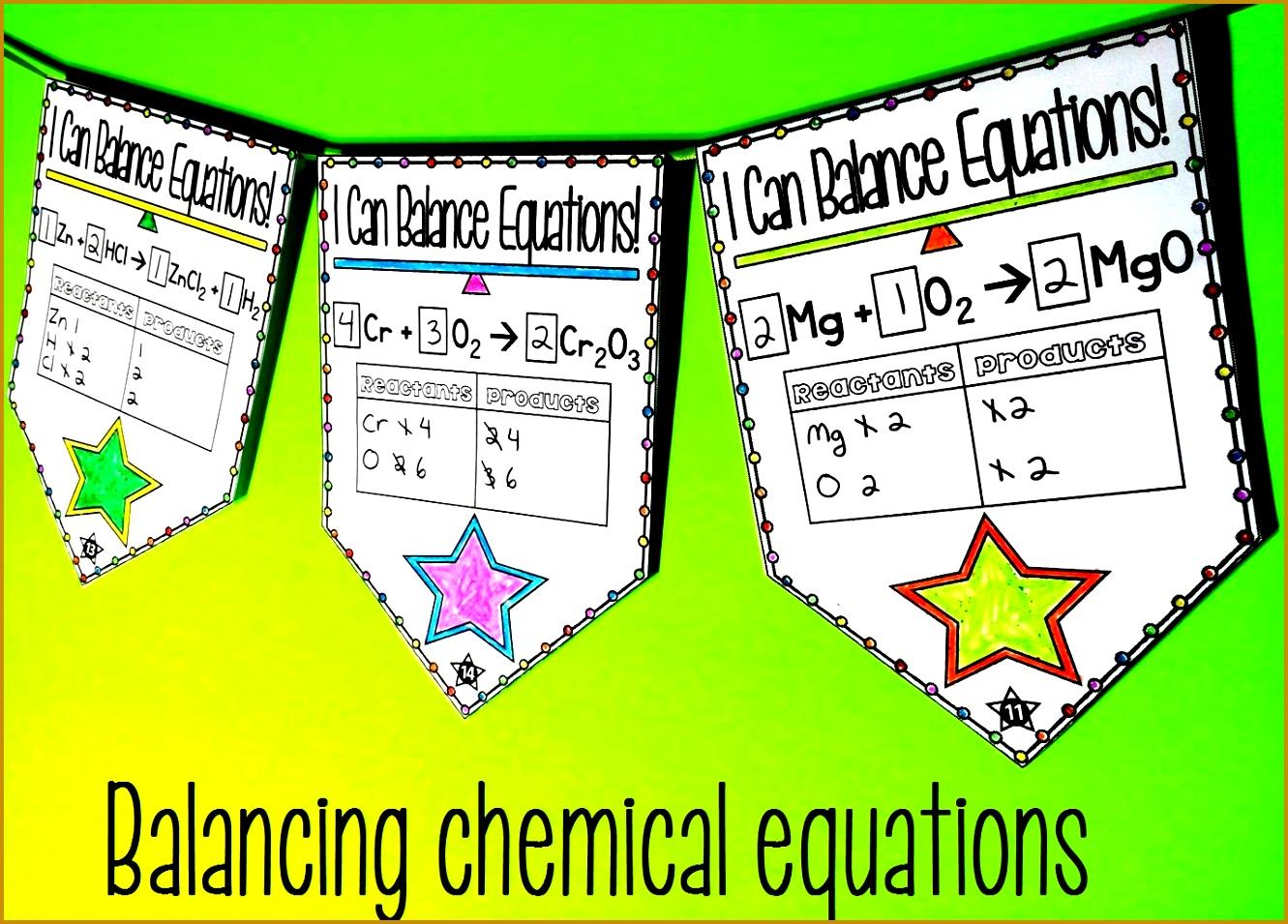 5 Balancing Equations Worksheet