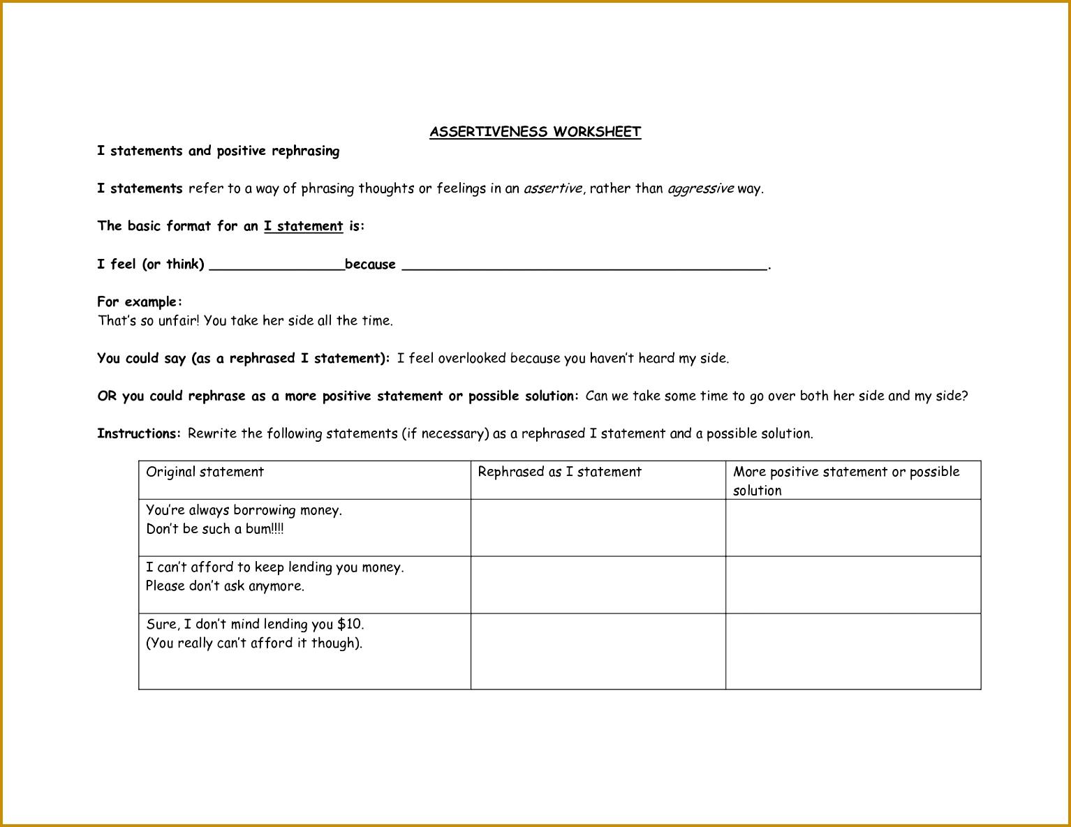 7 Cbt Worksheets