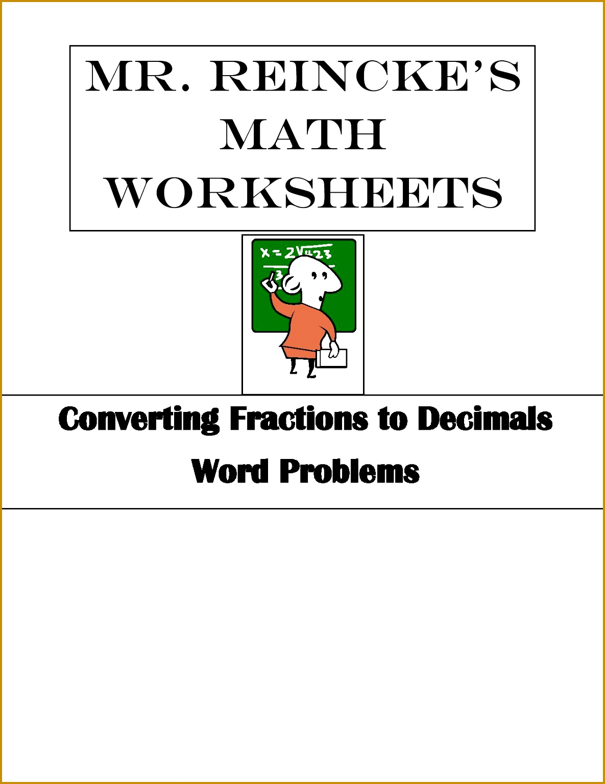 7 Converting Fractions To Decimals Worksheet