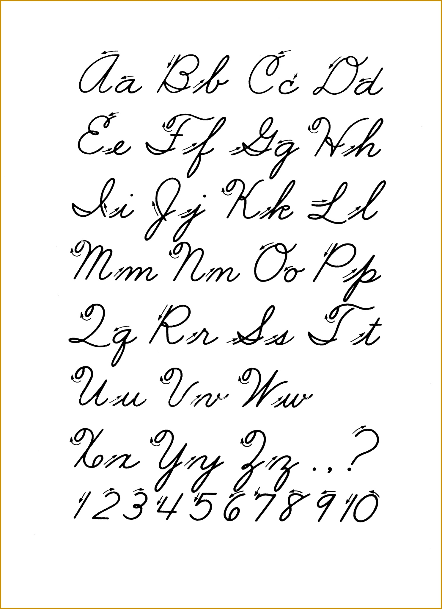 4 Cursive Handwriting Worksheets