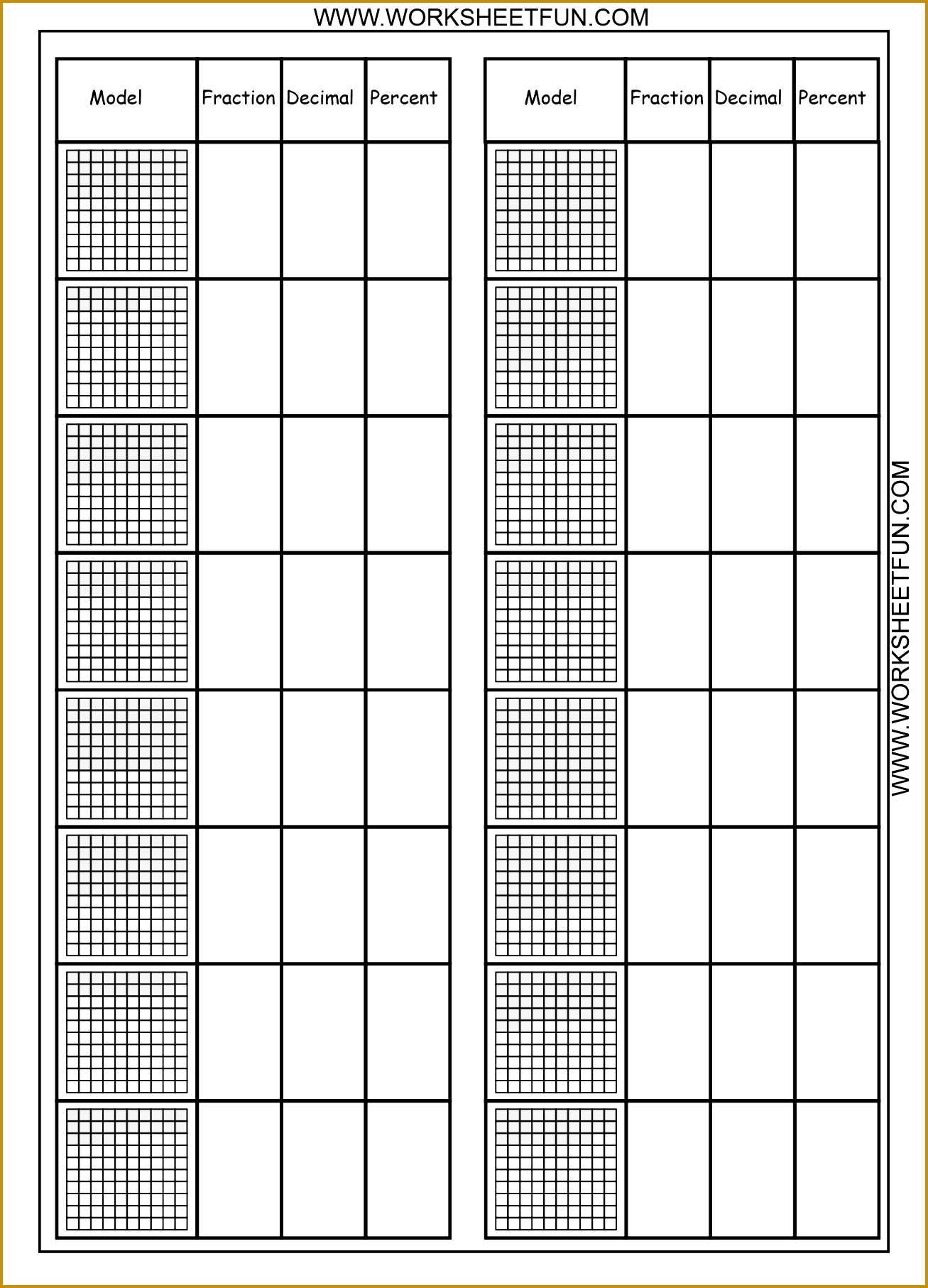 3 Decimal Worksheets