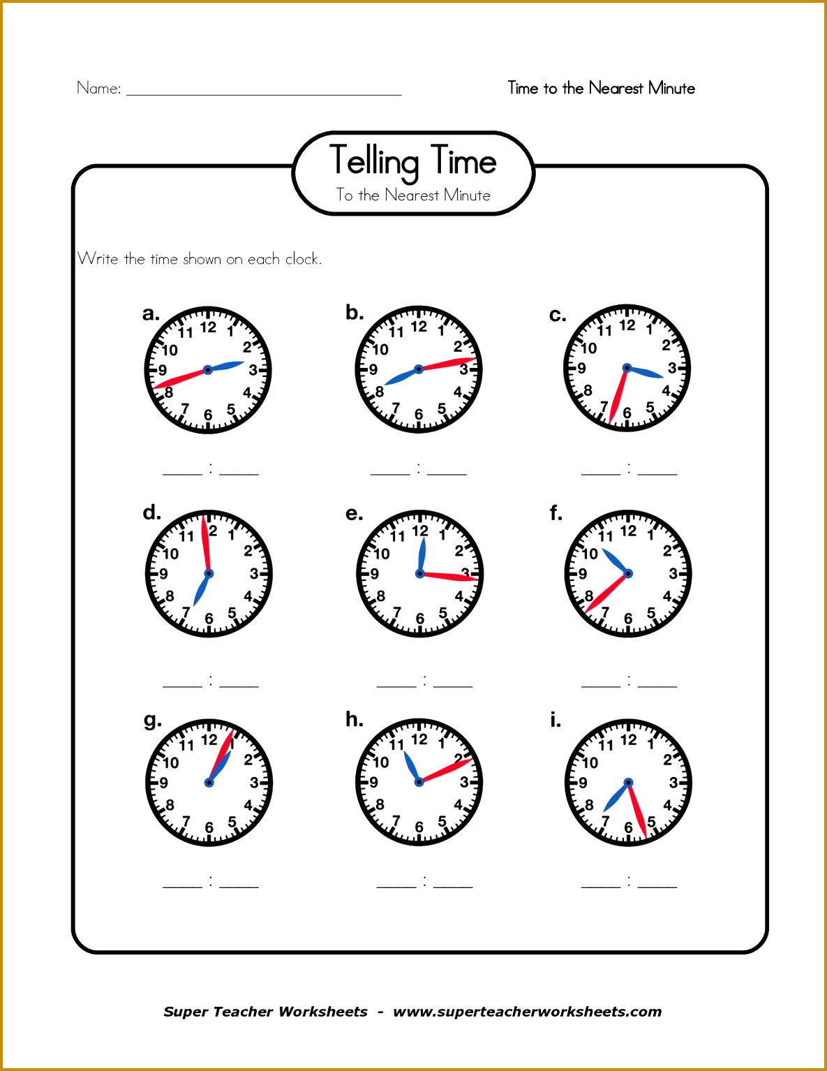 4 Elapsed Time Worksheets